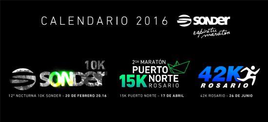 Para agendar: SONDER presenta su calendario de maratones Rosario 2016