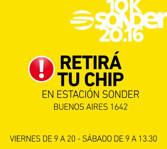 Retiro de chips + compra de anticipadas para la 1º Fiesta Running Rosario en Puerto Norte