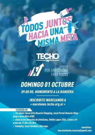 Este Domingo 01 de Octubre colaborá con TECHO