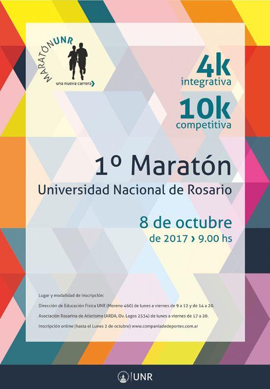 Se correrá la primera maratón de la Universidad Nacional de Rosario