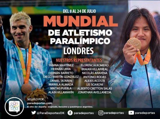 Argentina, lista para el mundial de Atletismo Paralímpico en Londres