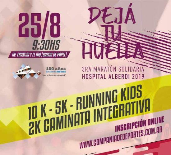 Se viene la tercera edición de la maratón solidaria Dejá tu huella