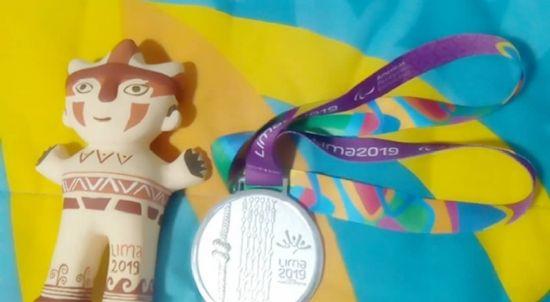 Brian Impellizzieri, medallas de plata en 100m T37 y oro en salto en largo T37/38 en Lima